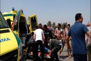 إصابة 5 من عمال اليومية في حادث تصادم في الصالحية