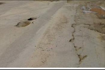 أهالي القرين يطالبون برصف طريق أبوشلبي