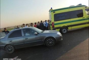 مصرع وإصابة 4 أشخاص في انقلاب سيارة ببلبيس