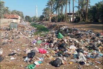 مناشدات لتغطية مصرف يهدد قرية القضاة بكفر صقر