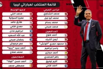 قائمة منتخب مصر.. استبعاد شريف وأفشة ودخول فتحي وياسر إبراهيم أمام ليبيا