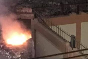 شكاوى من حرق القمامة بجوار مدرسة في فاقوس