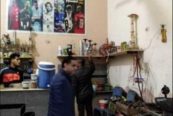 غلق وتشميع عدد من المقاهي ومصادرة 83 شيشة بالشرقية