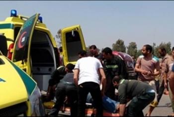 مصرع بائع متأثرًا بإصابته في حادث بكفر صقر
