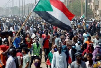 تظاهرات في السودان أمام القصر الرئاسي