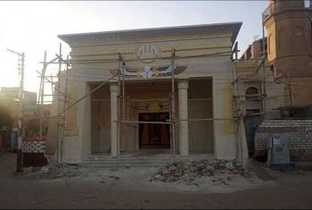 غضب من بناء مسجد على طراز المعابد الفرعونية في القاهرة