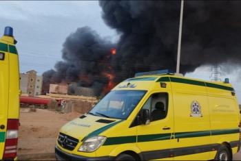 بعد 8 ساعات.. السيطرة على حريق مصنع الهلال والنجمة بالعاشر من رمضان