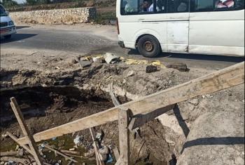 أعمال الحفر بطريق أبوحماد الزقازيق معلقة منذ رمضان