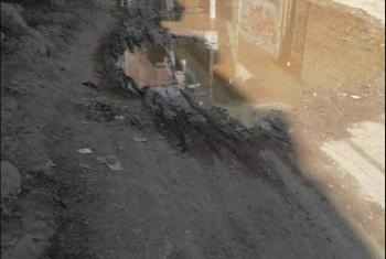 شكوى من غرق البيوت والشوارع بمياه المجاري في قرية بأبوكبير
