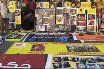 في ذكرى المذبحة..معرض مصور لشهداء رابعة في العاصمة الإيطالية