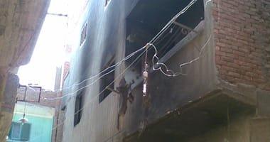 مصرع فتاتين في حريق منزل بههيا