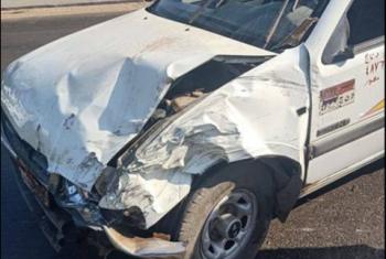 حادث تصادم بطريق سعود في الحسينية