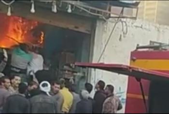 حريق في محل بقالة بالإبراهيمية