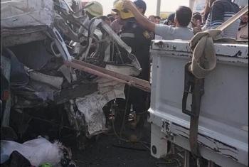 تفاصيل مصرع 19 شخصًا في حادث مروع على الطريق الدائري بأكتوبر